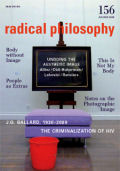 Radical Philosophy 156 jacket